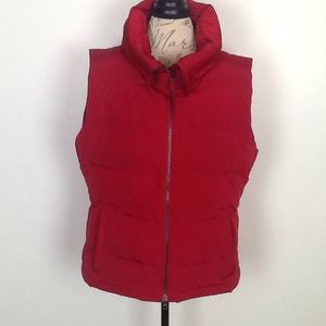 Talbots red down filled puffy vest in Large